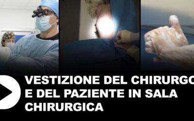 Vestizione del chirurgo e del paziente in sala chirurgica